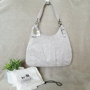 New COACH leather shoulder bag in putty
